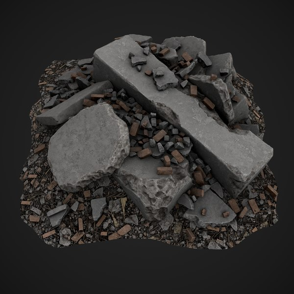debris piles asset games 3D model