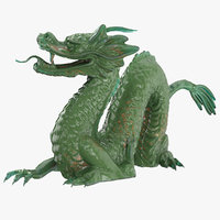 jade dragon 3D