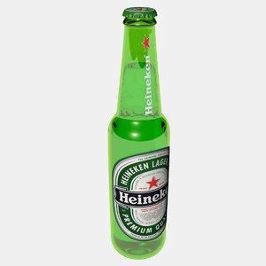 bottle modeled 3D model