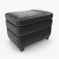 3D leather ottoman cushion model