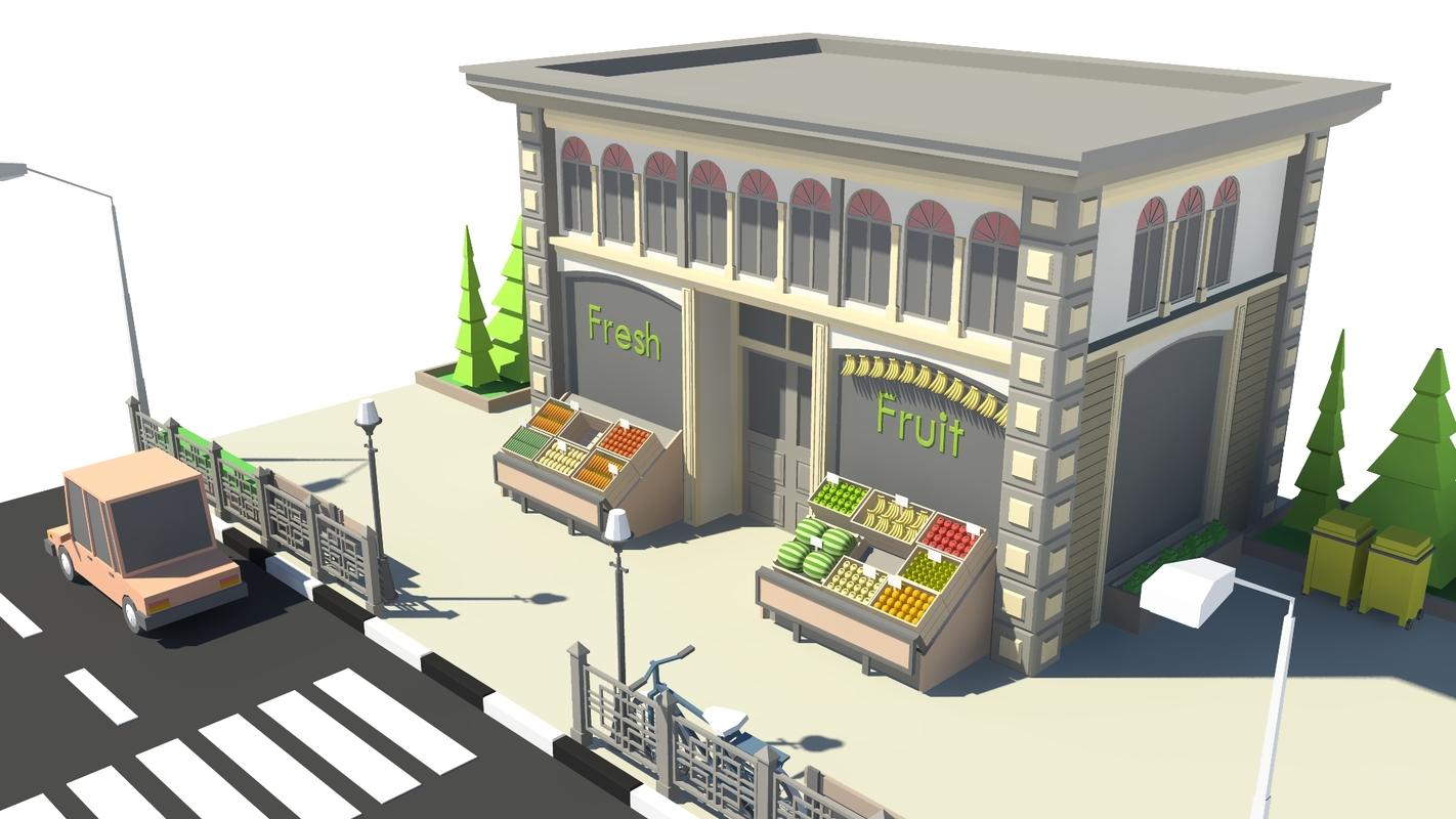 3D shop fruit model