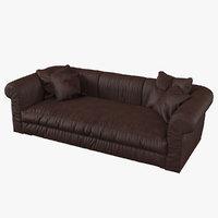 3D model baxter alfred soft sofa