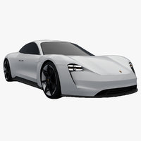 Porsche Mission E Outer Concept Low Poly