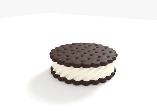 ice cream sandwich cookies 3D