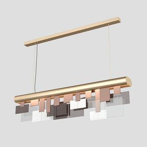 turri eclipse linear chandelier 3D model