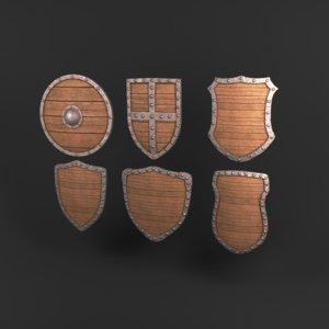 3D model ready shield