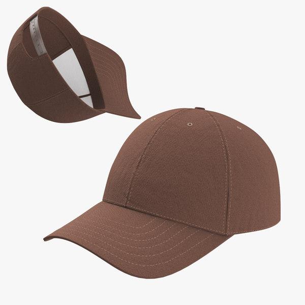 3D baseball cap brown