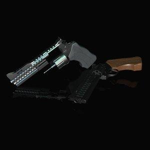 3D 357 magnum weapon model