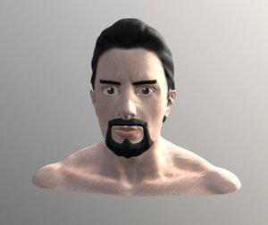 tony stark face 3D