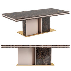 turri eclipse rectangular table 3D model