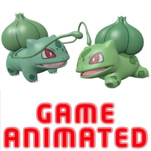 3D pokemon bulbasaur model