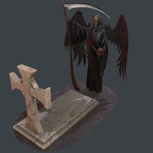 statue angel death 3D model