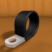 3D steel clamp rubber protection