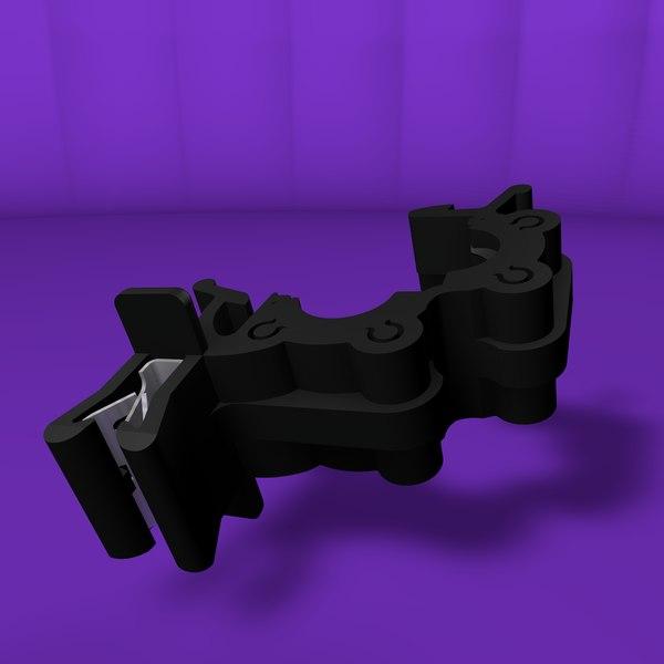 3D plastic clamp