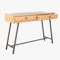 mid-century modern console table 3D model