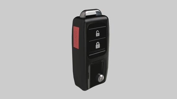 3D model car keys control