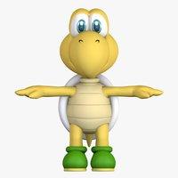 Green Turtle Koopa Troopa Super Mario Assets