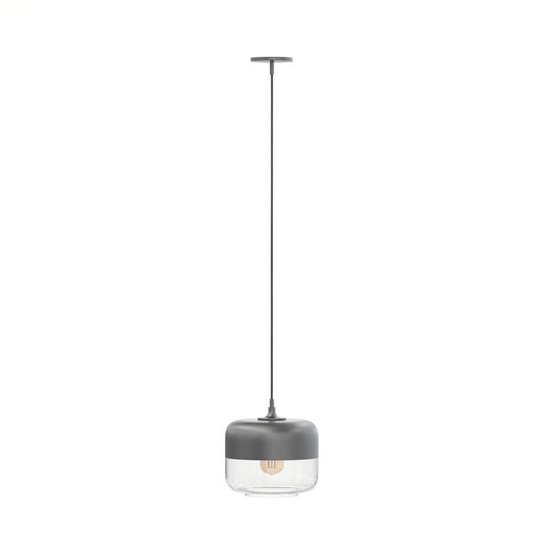 3D black hanging lamp model