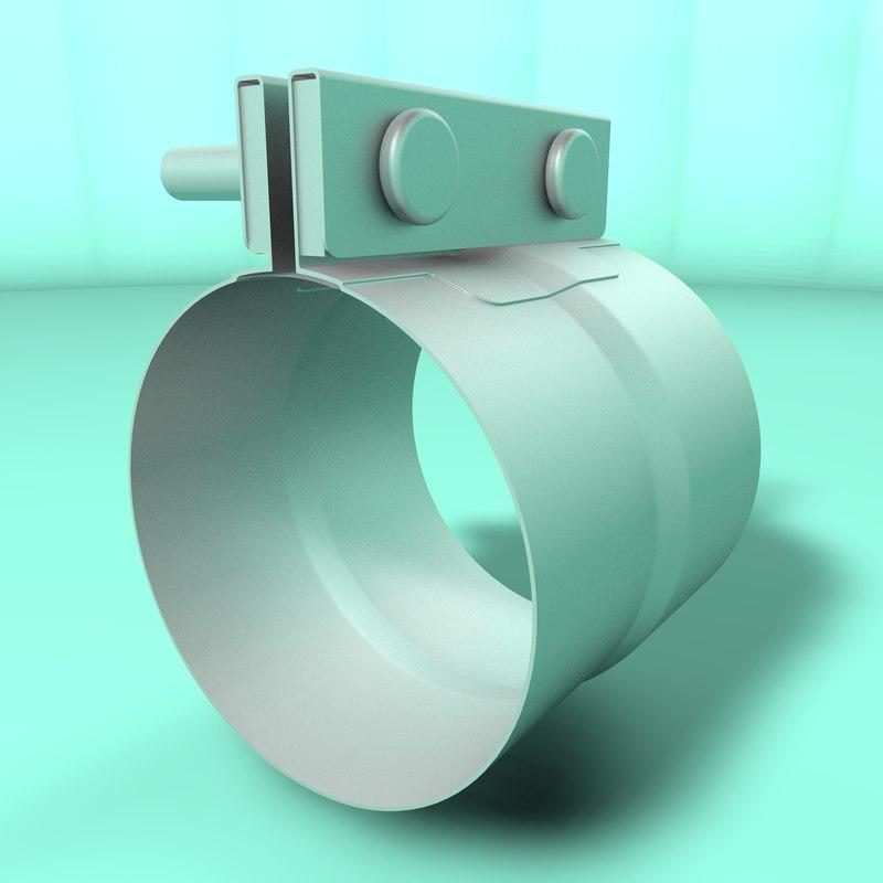 tube clamp 3D