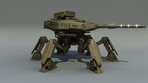 3D tank robot model