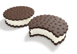 ice cream sandwich cookies 3D model
