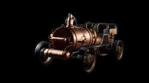 3D model steampunk old vehicle car
