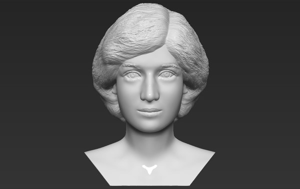princess diana bust ready 3D model