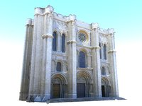 3D cathedral facade architecture