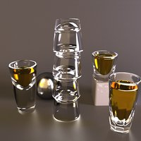 32 glasses bars 3D model