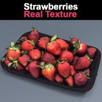 Strawberries texture tray