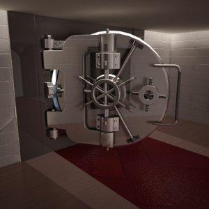 bank door 3D