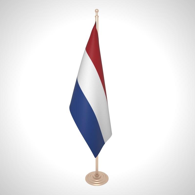 3D netherlands flag