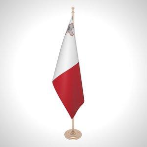 3D malta flag