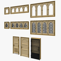 3D pivot door windows