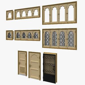 3D pivot door windows