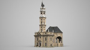 mysterious church ruined 3D model