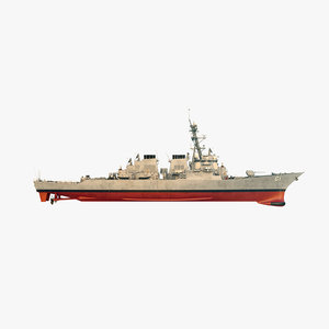 3D uss ramage ddg model