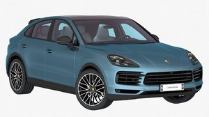 3D model porsche cayenne coupe 2020