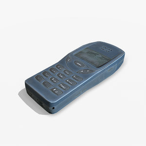 3D old mobile nokia 3210