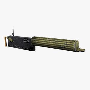 3D maxim gun