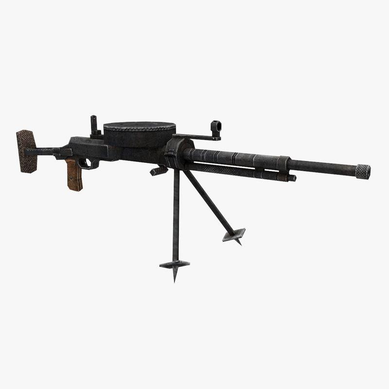 3D dt-29 gun model