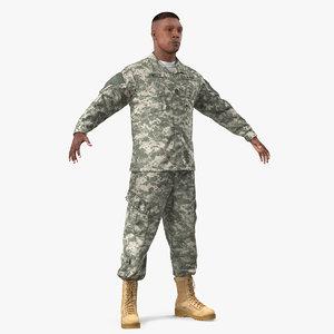 3D army soldier acu uniform model