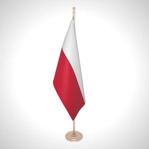 poland flag 3D