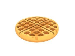 waffle cartoon 3D model