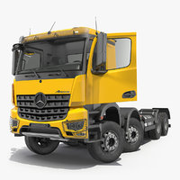Mercedes Benz Arocs 8X8 Cab Chassis Rigged 3D Model