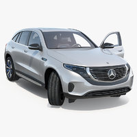 mercedes benz eqc rigged 3D model