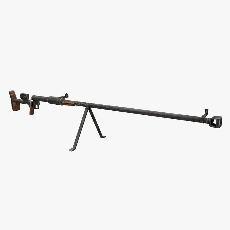 3D ptrd gun model