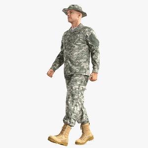 soldier acu walking pose 3D