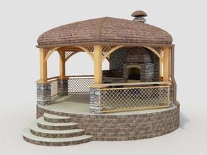 3D original gazebo grill