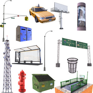 3D model street set
